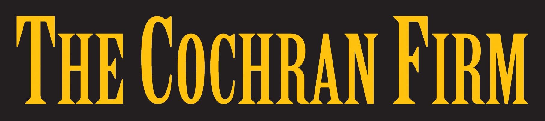 the Cochran Firm logo Black backgroun